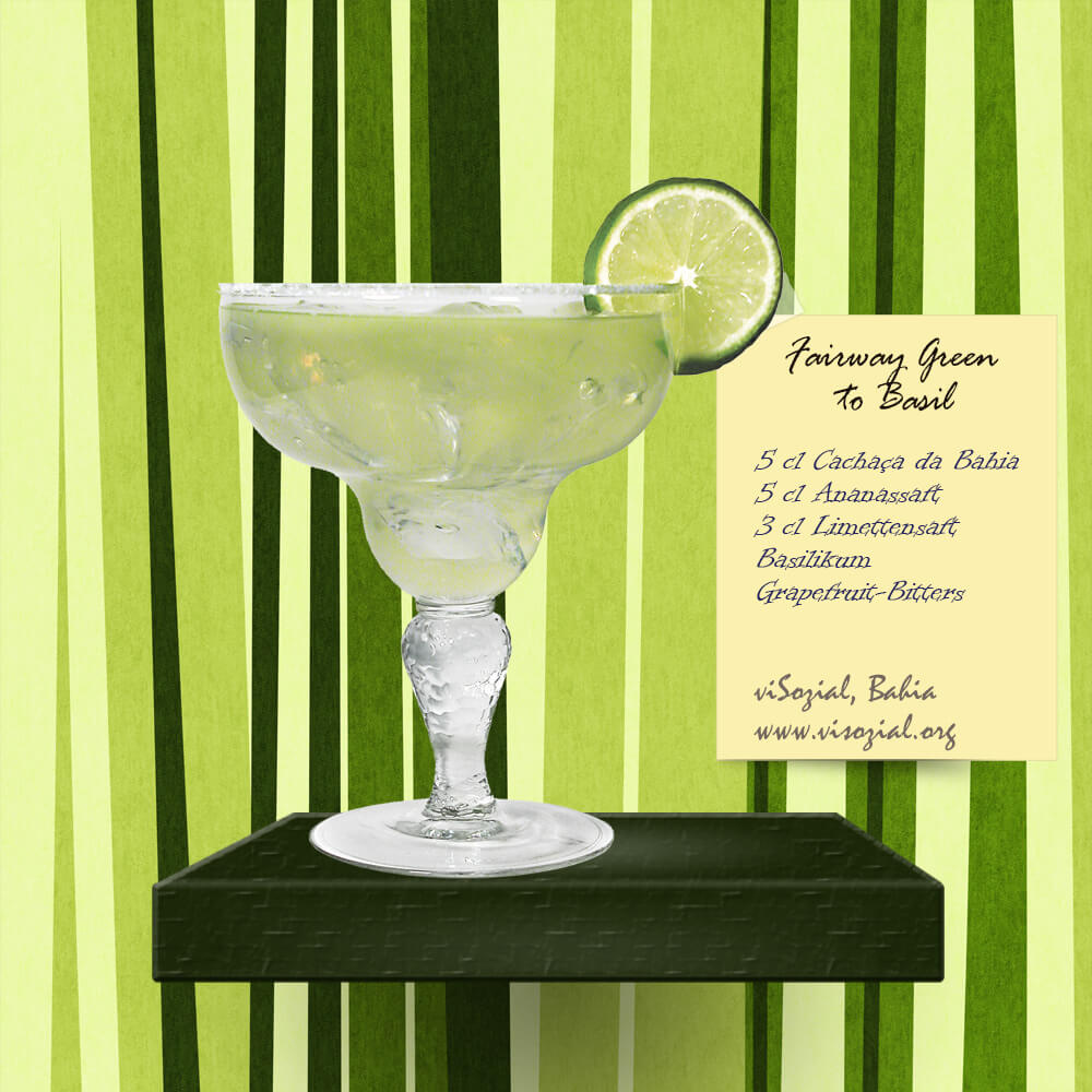 Cachaca-Cocktail: Fairway green do Brasil